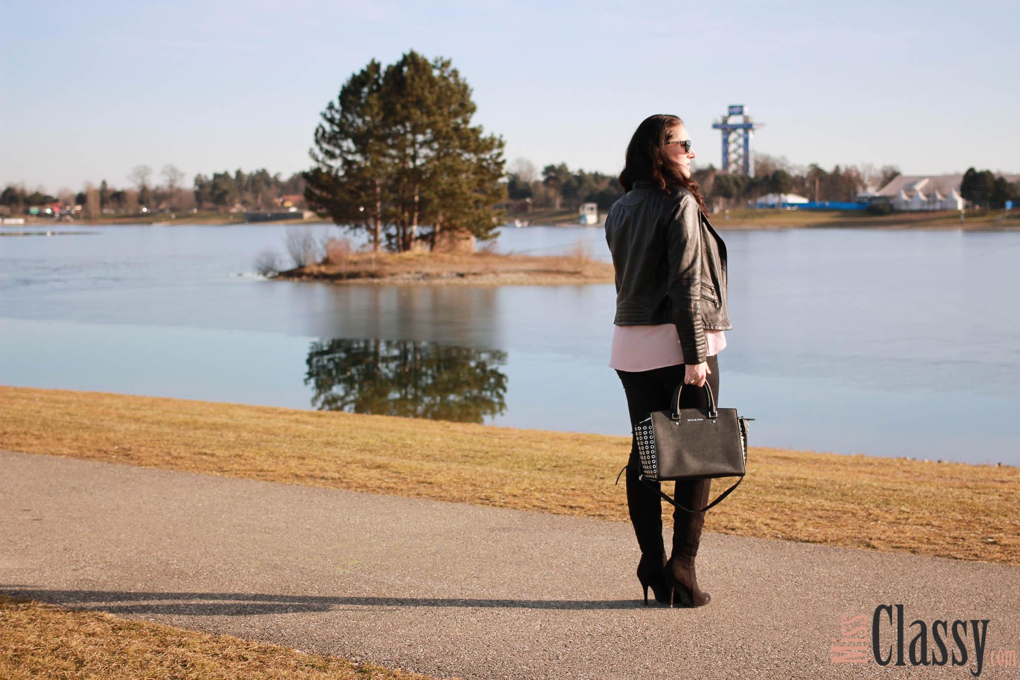 Sonne, See und meine neue Lederjacke von Hallhuber