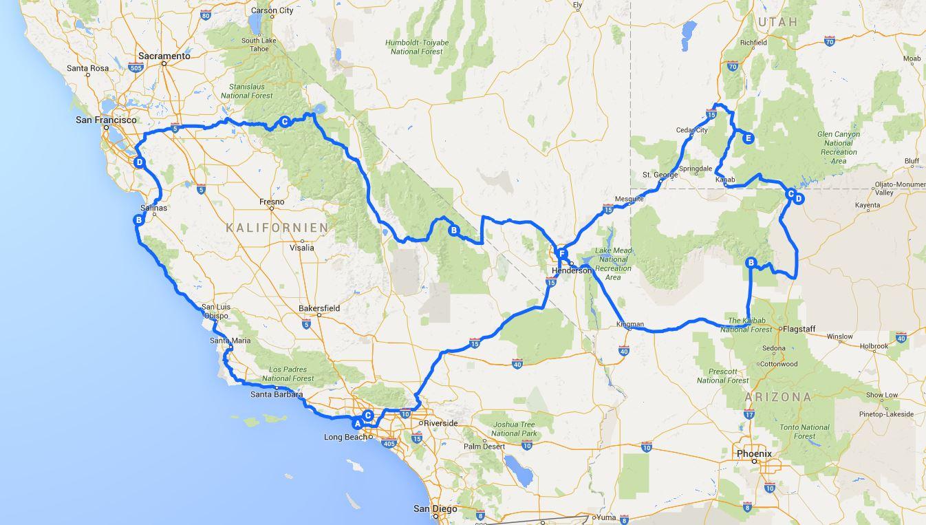 westküsten tour usa