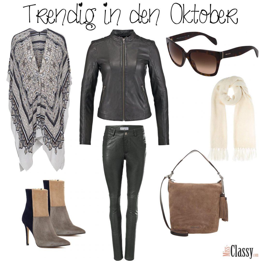 Trendig in den Oktober - Lederhose - Lederjacke - Poncho