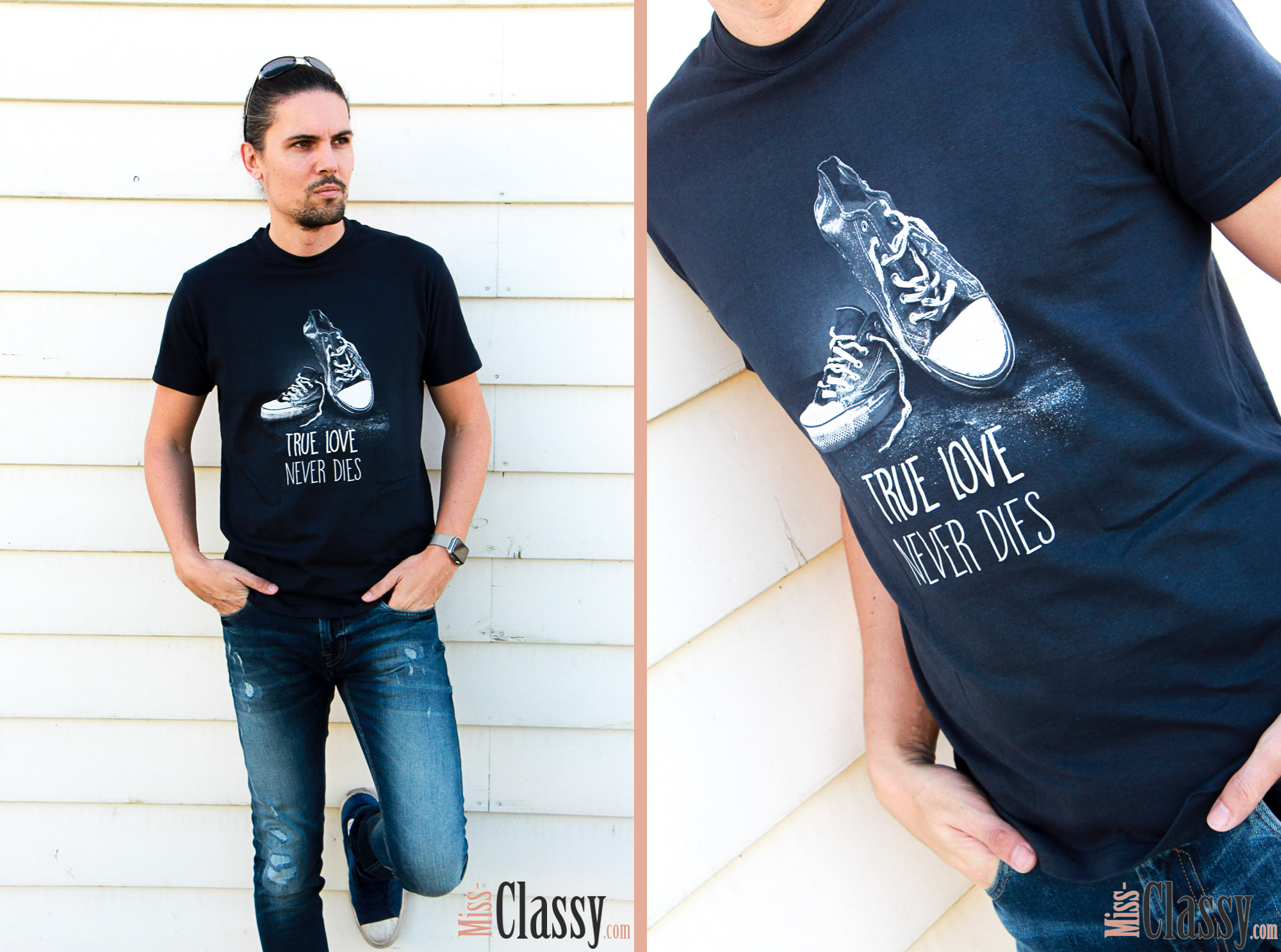 OUTFIT Wenn Kater schwarz, T-Shirt gut, Miss Classy, classy, beclassy, Fashionblog, Fashionblogger, Österreich, Austria, Graz, All Black, Kater Likoli, T-Shirt, Converse, Apple Watch, Guess, Jeans, True Love never Dies