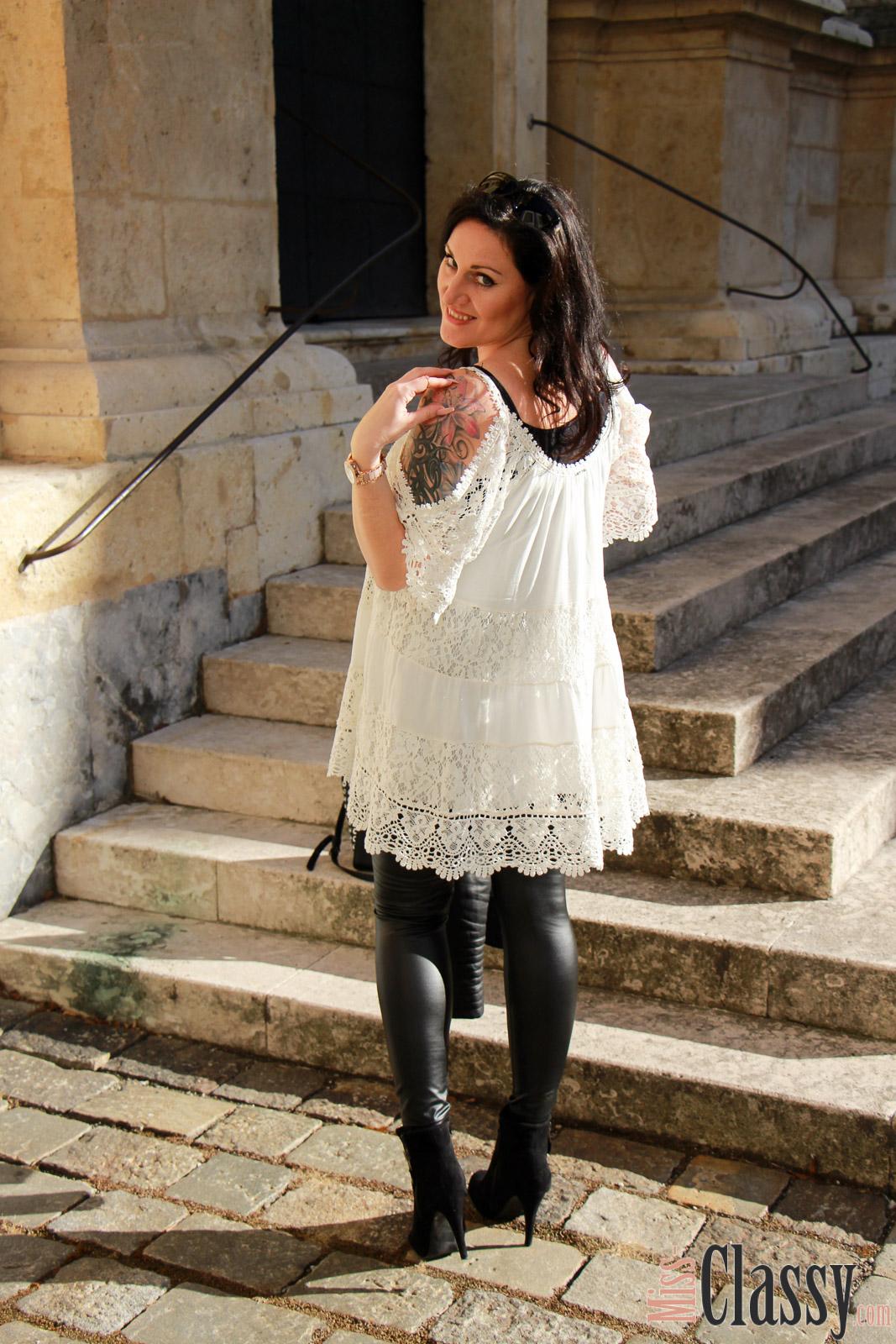 OUTFIT: Weisses Kleid mit Spitze - Mein Outfit für den ...