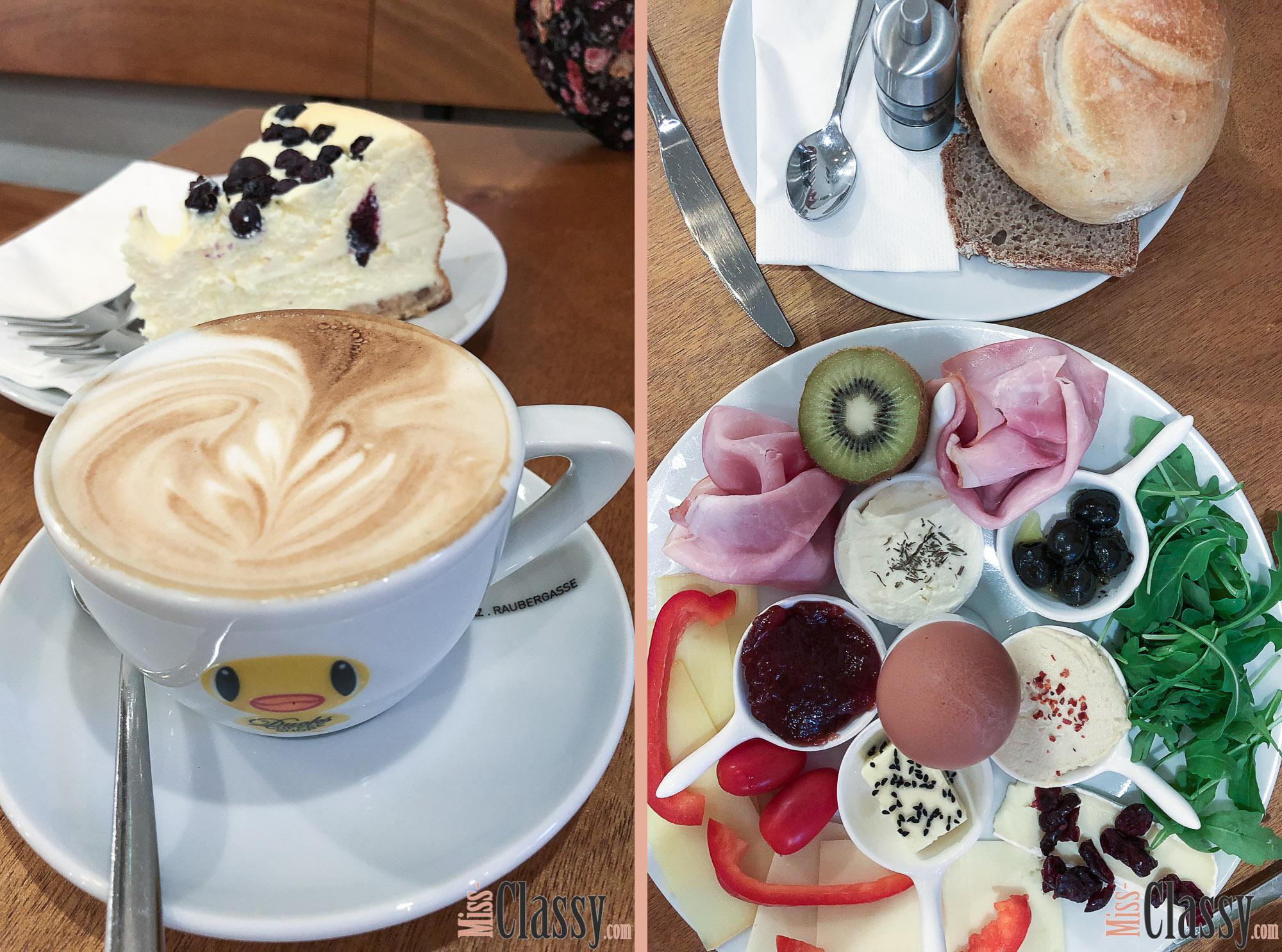 LIFESTYLE: Frühstücken und Brunchen in Graz - Miss Classys liebste Frühstückslokale, Miss Classy, Lifestyle Blog Graz, Graz, Steiermark, Österreich, classy, beclassy, Frühstück, Ducks Coffee Shop, Mehlspeisenfräulein, Cheesecake, Cappuccino, Frühstücksteller