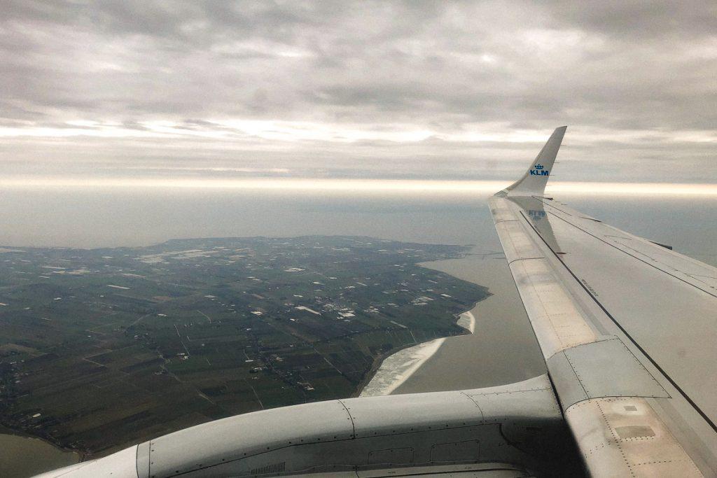 Amsterdam Reiseblog - Anflug Amsterdam KLM