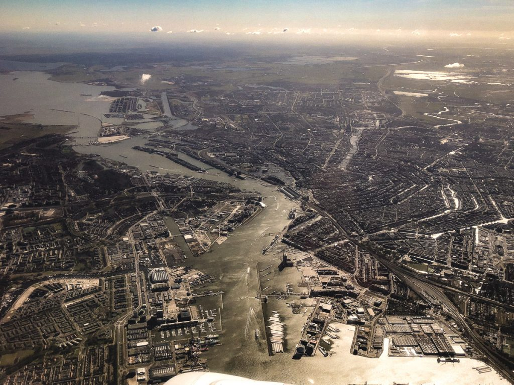 Amsterdam Reiseblog - Rückflug KLM, Amsterdam aus der Luft