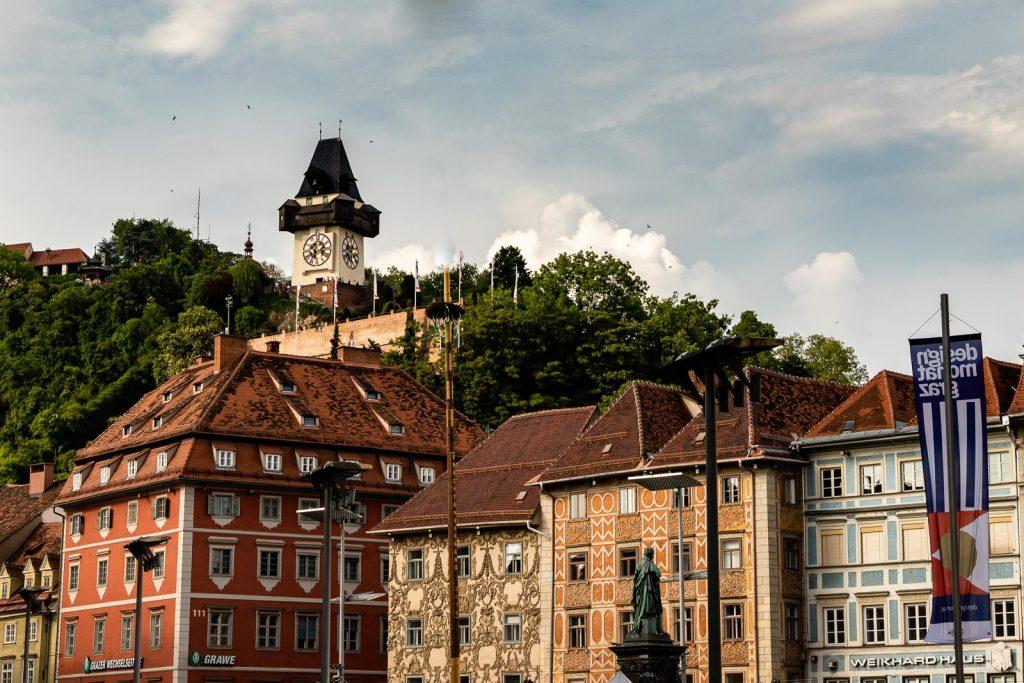Hauptplatz Uhrturm Graz