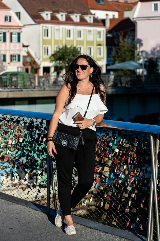 Miss Classy auf der Hauptbrücke Graz
