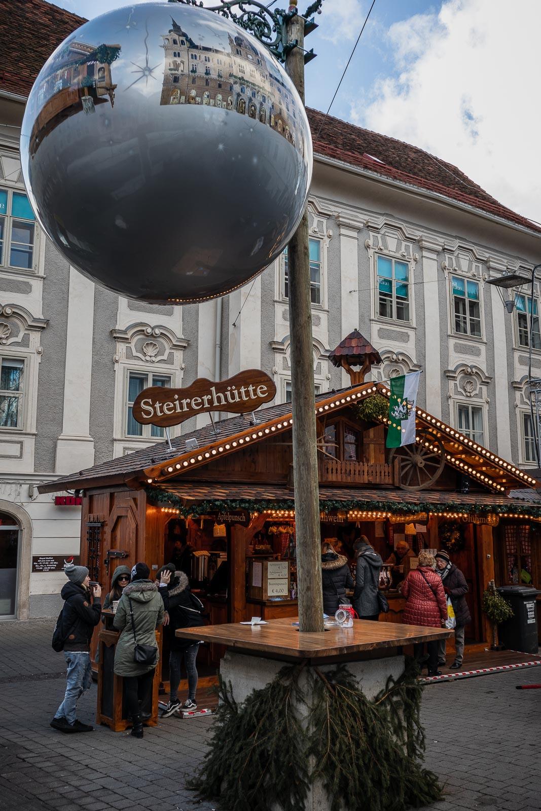 Christkindlmarkt Südtiroler Platz, Steirerhütte - Adventmärkte Graz, Weihnachtsmärkte, Christkindmarkt